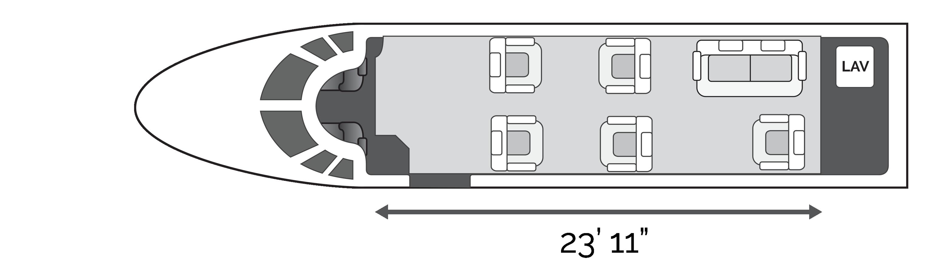 SimpleCharters Midsize Jet Cabin