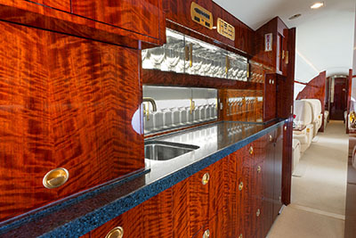private jet galley