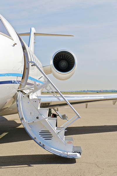 private jet stairs