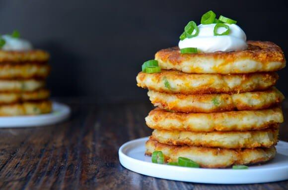 cheesy-leftover-mashed-potato-pancakes