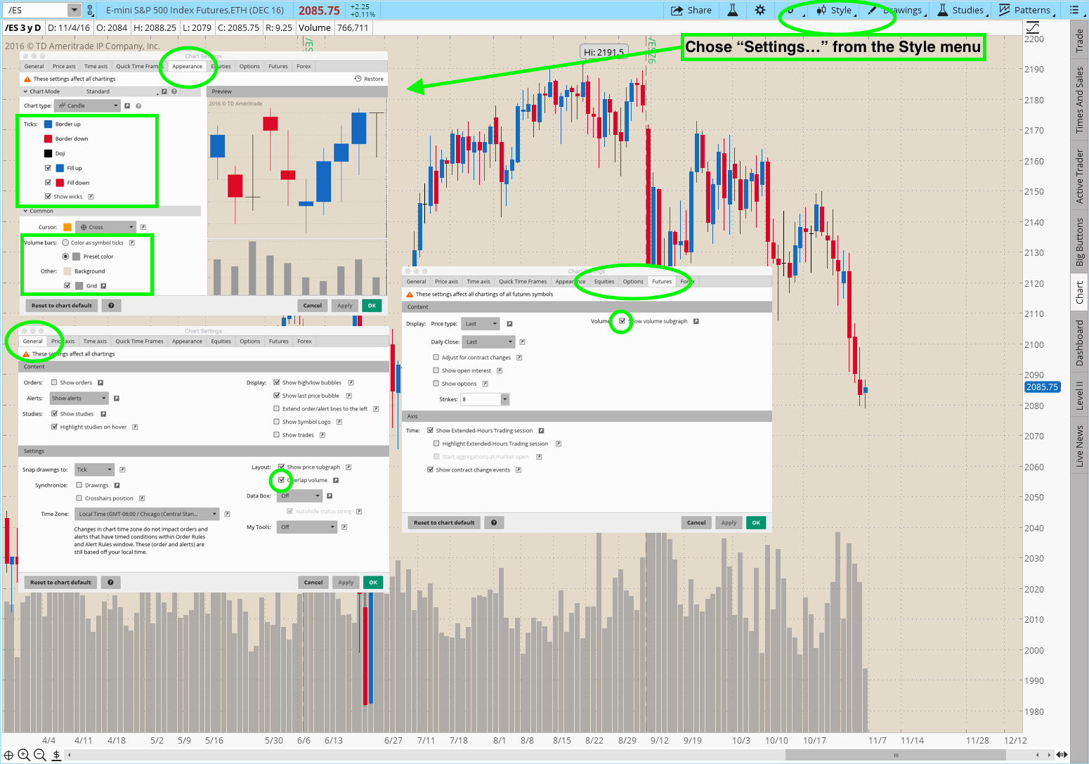 Customizing Your Chart Appearance In Thinkorswim® | Simpler Trading