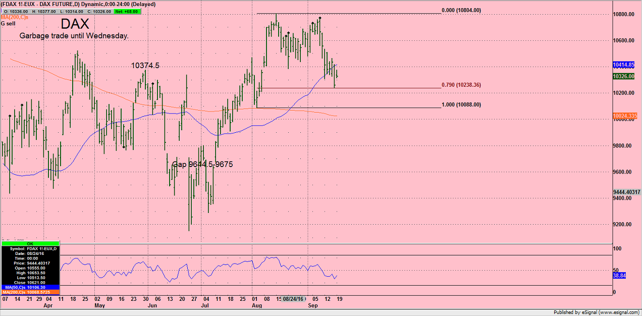 Pre race trading indicators