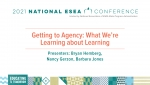 Getting to Agency: What We're Learning About Learning