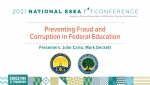 Preventing Fraud and Corruption in Federal Education