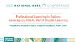 Professional Learning in Action: Leveraging Title II, Part A Digital Learning