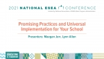 Promising Practices and Universal Implementation for Your School