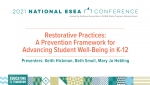 Restorative Practices: A Prevention Framework for Advancing Student Well-Being in K-12