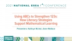 Using ABCs to Strengthen 123s: How Literacy Strategies Support Mathematical Learning