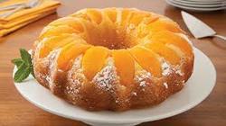 Peach bundt