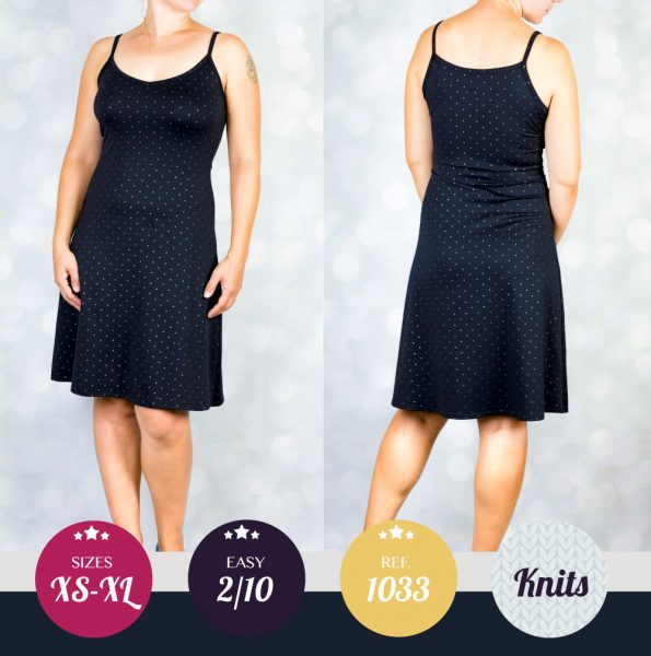 Lydia knit cami dress PDF sewing pattern