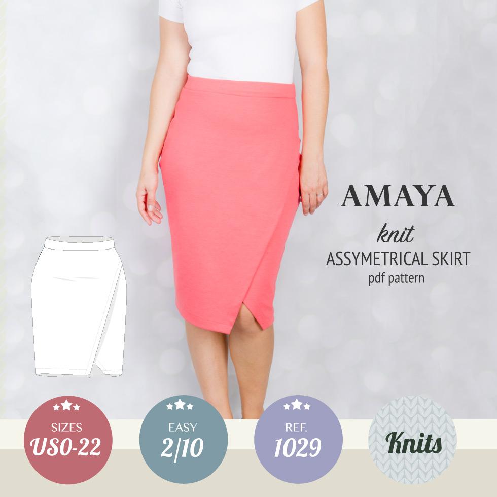 aae04b5b6c01 Amaya asymmetrical knit pencil skirt (PDF) – Sinclair patterns