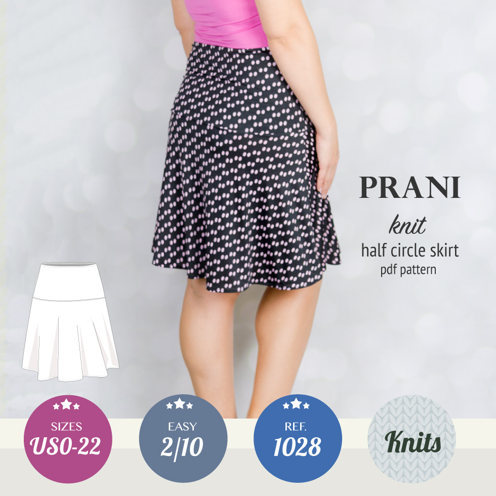 Prani half circle wide band knit skirt (PDF) – Sinclair patterns