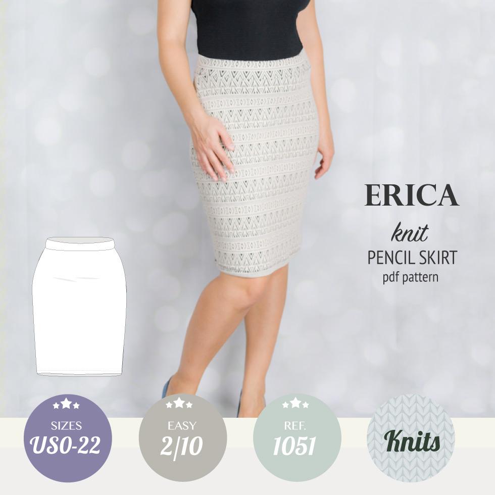 Erica knit pencil skirt (PDF) – Sinclair patterns