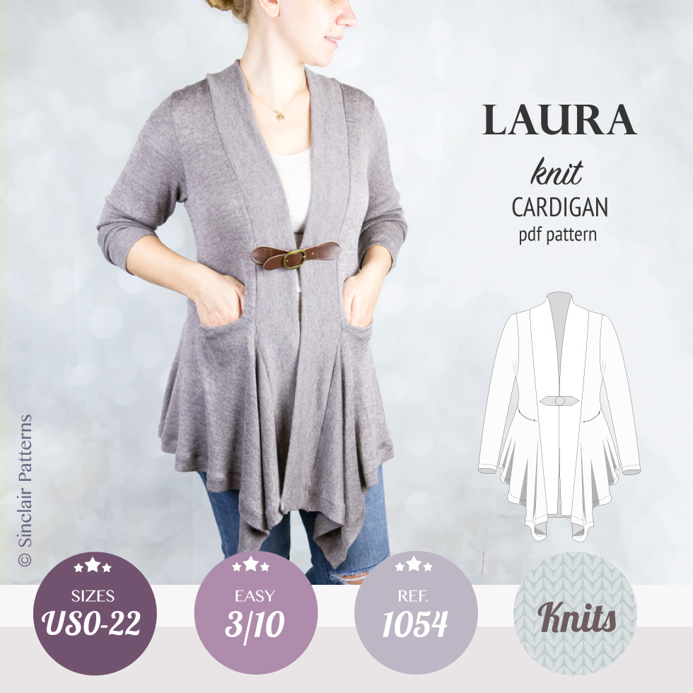 Laura relaxed fit shawl collar cardigan (PDF) – Sinclair patterns