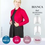 SinclairPatterns 1050 Bianca knit bolero shrug pdf sewing pattern