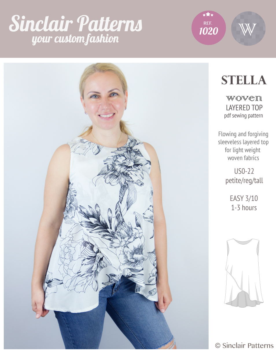 Stella layered woven top pdf sinclair patterns next jeuxipadfo Image collections