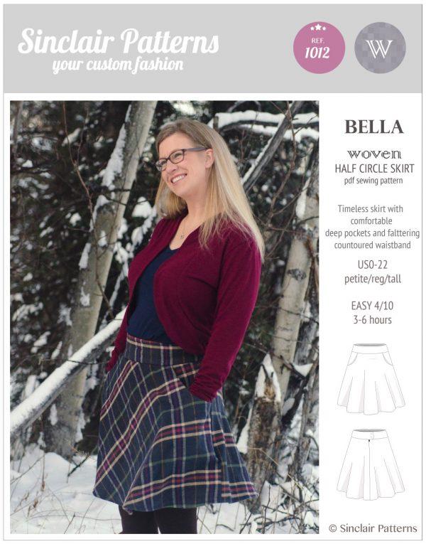 Sinclair Patterns S1012 Bella woven half circle skirt pdf sewing pattern