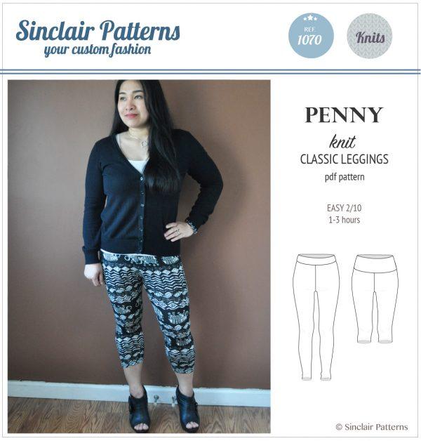 Sinclair Patterns S1070 Penny leggings pdf sewing pattern pdf for women