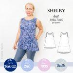Sewing pattern pdf - Sinclair Patterns shelby knit shell swing tunic