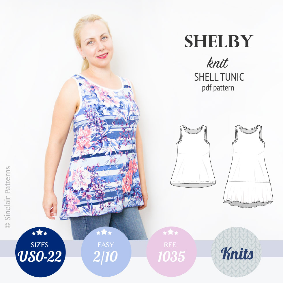 Shelby relaxed cut longline knit shell tunic and dress ...