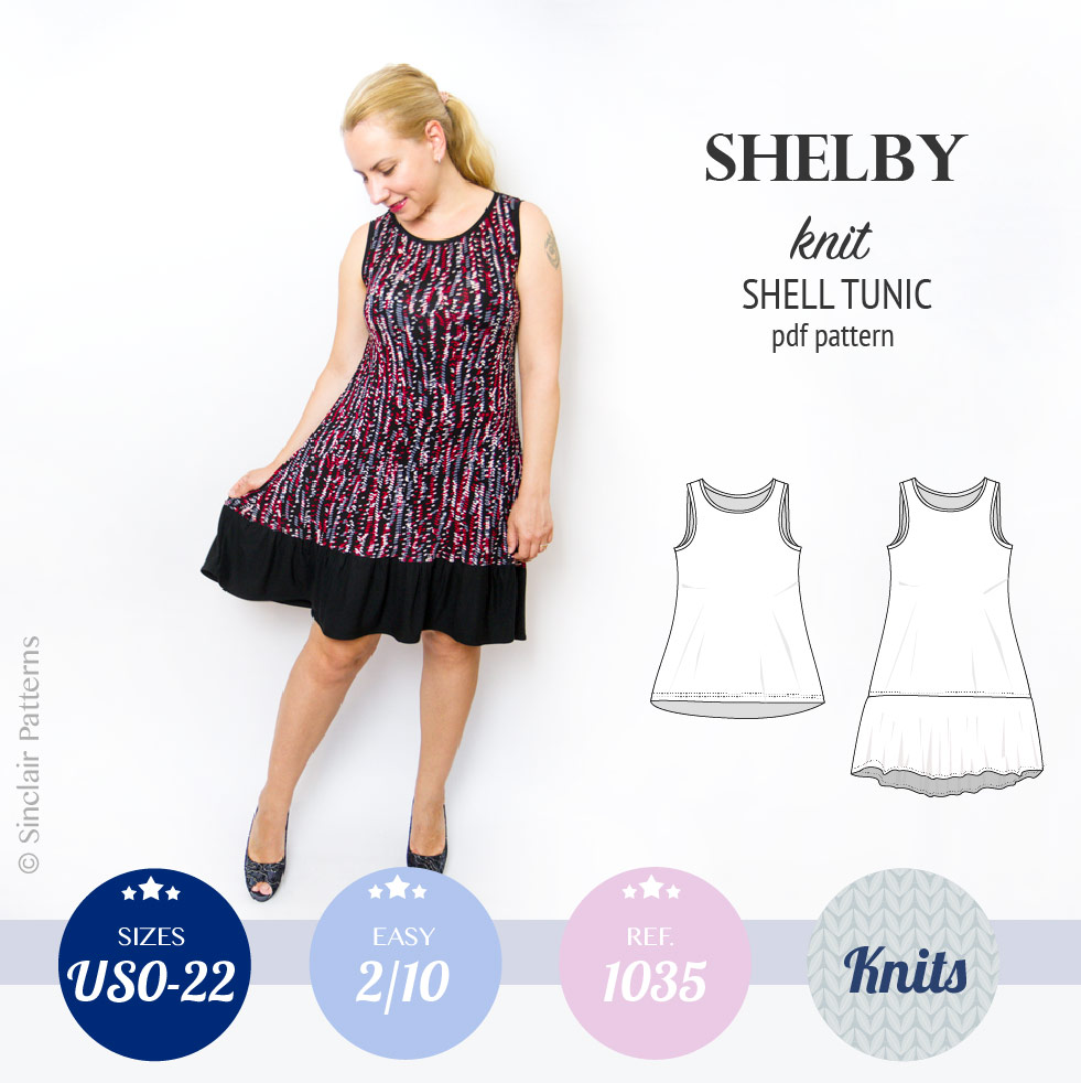 Shelby relaxed cut longline knit shell tunic and dress – Sinclair ...