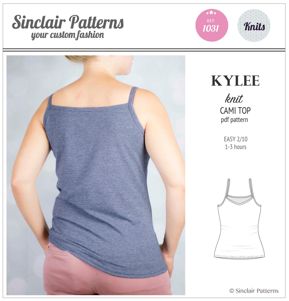 Kylee knit classic cami top pdf sinclair patterns pdf sewing pattern sinclair patterns s1031 kylee knit cami top jeuxipadfo Gallery