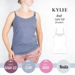PDF Sewing pattern Sinclair Patterns S1031 Kylee knit cami top