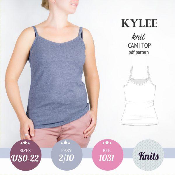 PDF Sewing pattern Sinclair Patterns S1031 Kylee knit cami top