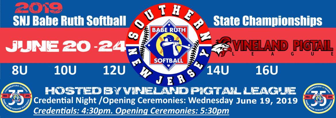 Vineland Pigtail Babe Ruth Softball