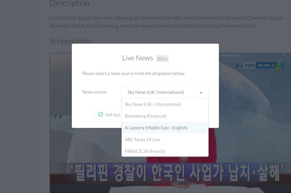 Live news app feed