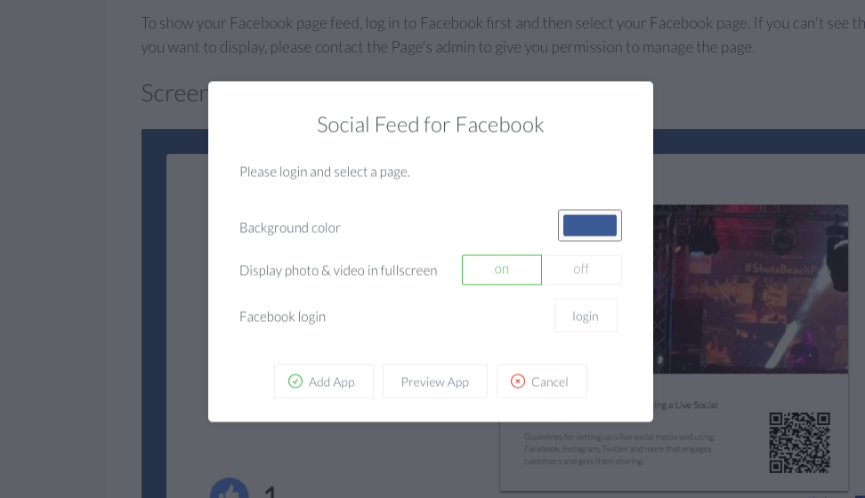Setup Facebook