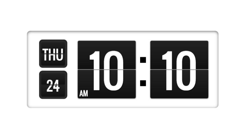 Digital clock style