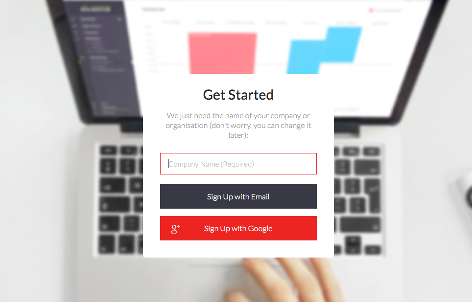 ScreenCloud sign up page