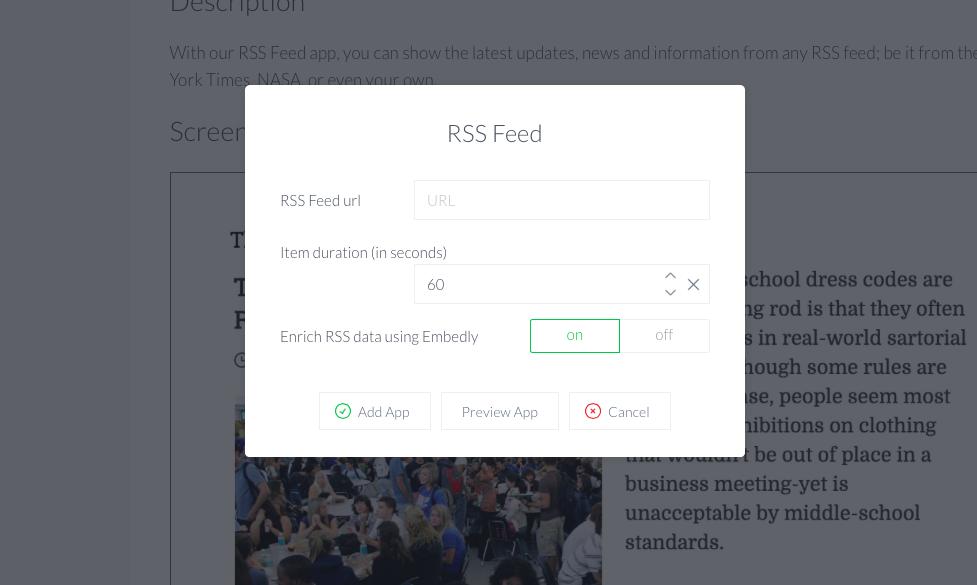 RSS feed app
