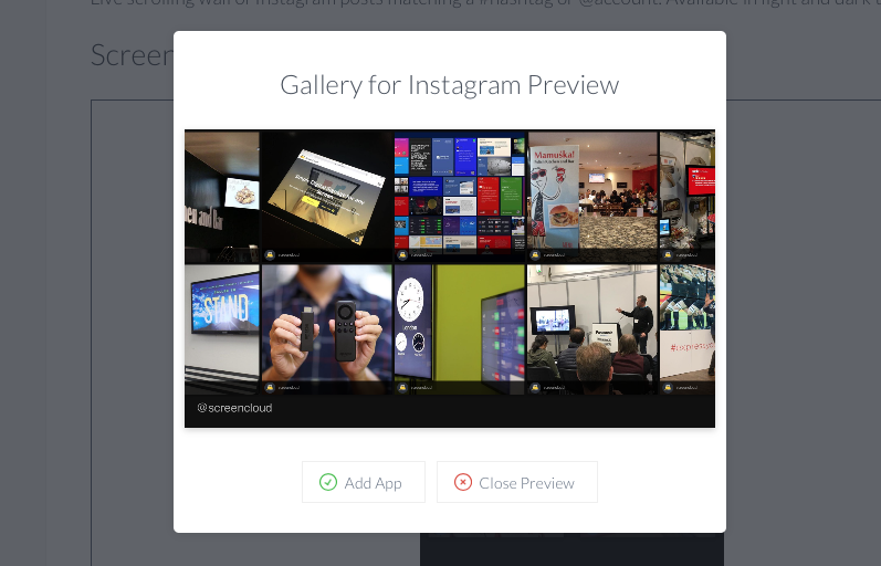 Gallery for Instagram app preview