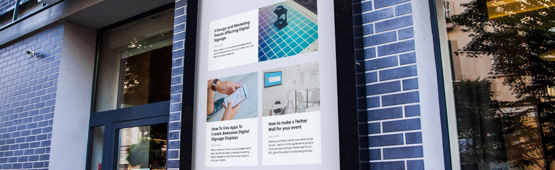 Digital Walls using digital signage in employee communications - screencloud
