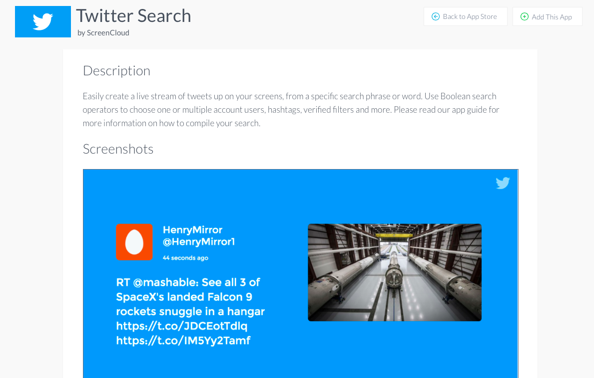 ScreenCloud Twitter Search App Guide
