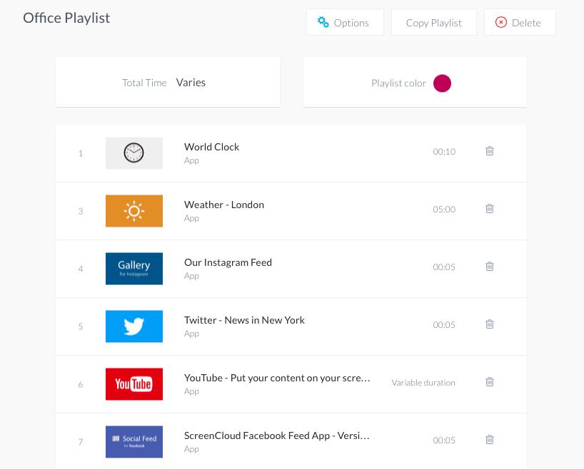 Add weather app to digital signage playlist