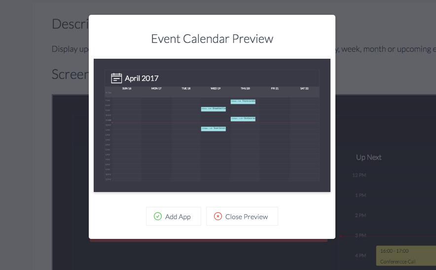 Event calendar events