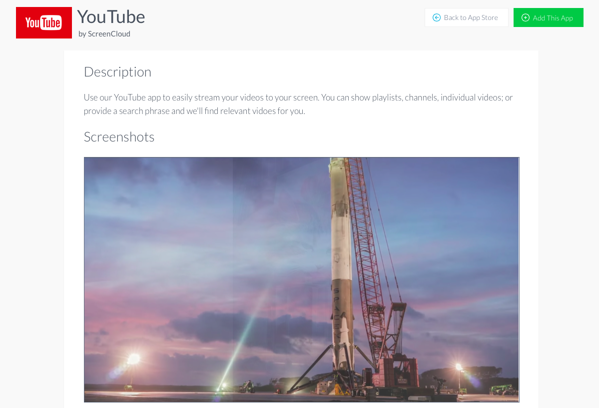 Install ScreenCloud YouTube App