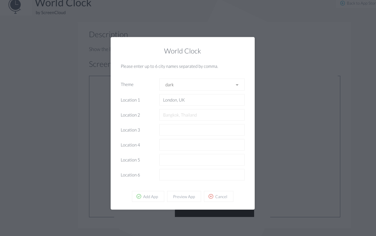 World clock app ScreenCloud install