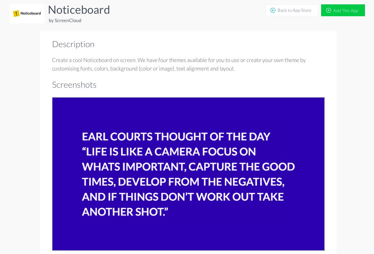 Install noticeboard ap