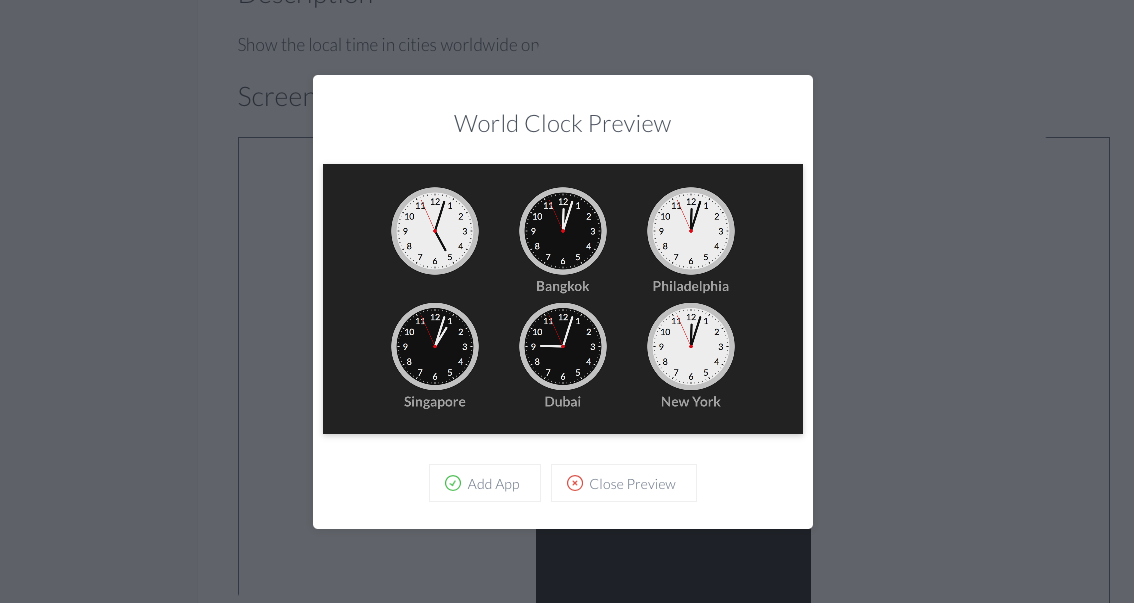 Six world clocks app