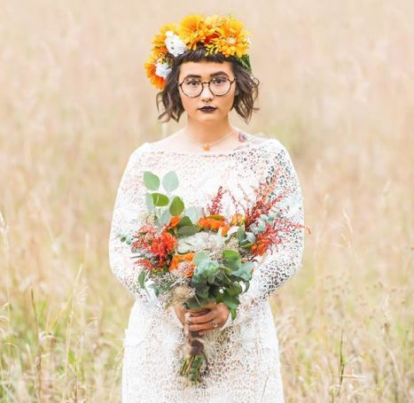 Bold Wildflower Wedding