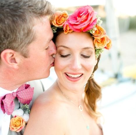 Dreamy and Bold Beach Wedding