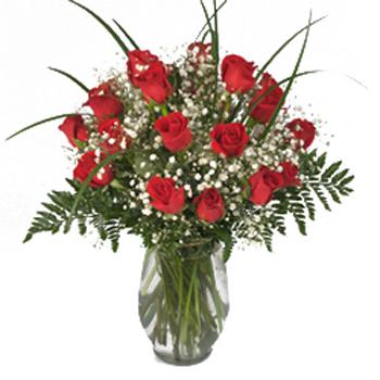 24 Long Stemmed Roses Valentine's Day Gift Arrangement
