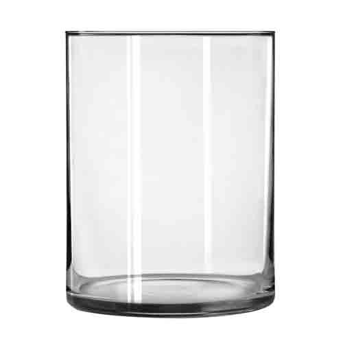 Wide Cylinder Vase, 8 Inch