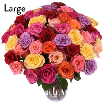 Assorted Roses Gift Bouquet