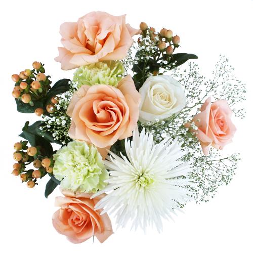 Peach Cobbler Wedding Centerpieces