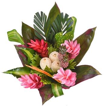 Pink Passion Tropical Centerpiece